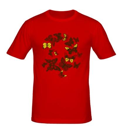 Мужская футболка Бабочки