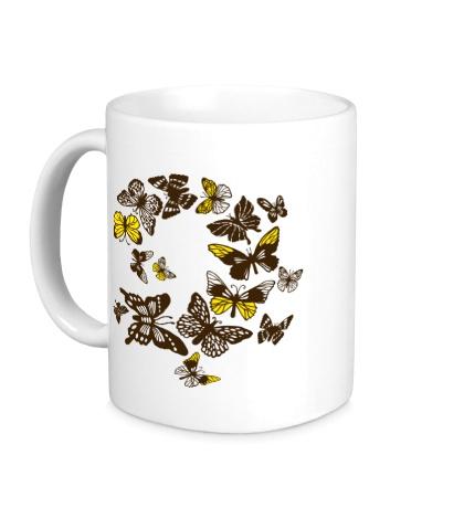 Керамическая кружка Бабочки