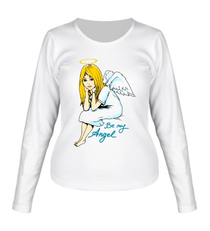 Женский лонгслив Be my Angel