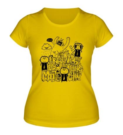 Женская футболка Граффити анимэ
