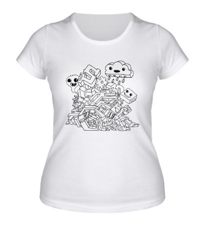 Женская футболка Граффити