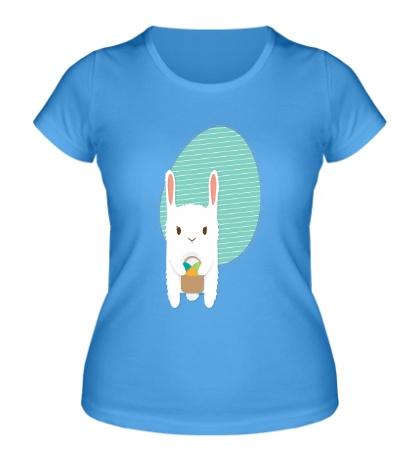 Женская футболка Пасхальный зайка