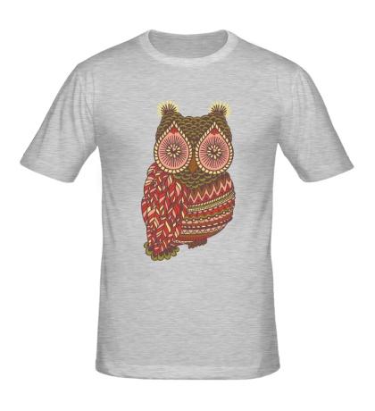 Мужская футболка Винтажная сова