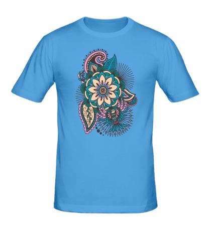 Мужская футболка Цветок и колибри