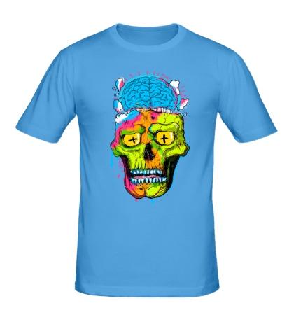Мужская футболка Череп с мозгами