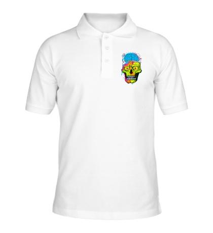Рубашка поло Череп с мозгами