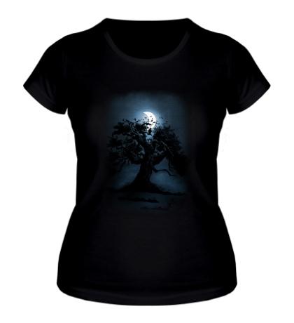 Женская футболка Лунный свет