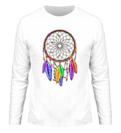 Мужской лонгслив Dreamcatcher Rainbow Feathers