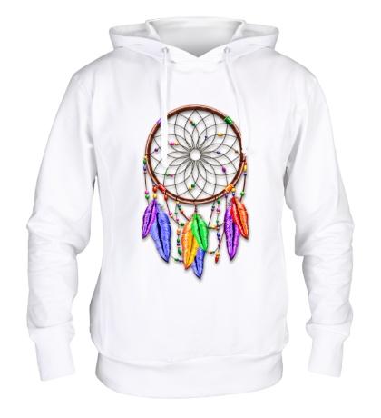 Толстовка с капюшоном Dreamcatcher Rainbow Feathers