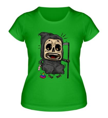 Женская футболка Испуганная смерть
