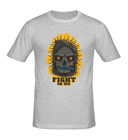 Мужская футболка Skull: Fight or die