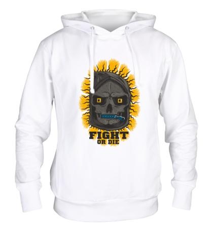 Толстовка с капюшоном Skull: Fight or die