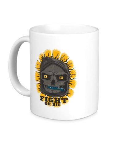 Керамическая кружка Skull: Fight or die