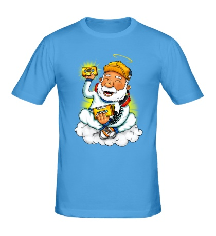 Мужская футболка Святой в наушниках