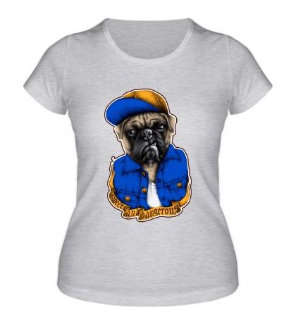 Женская футболка Уличный бульдог
