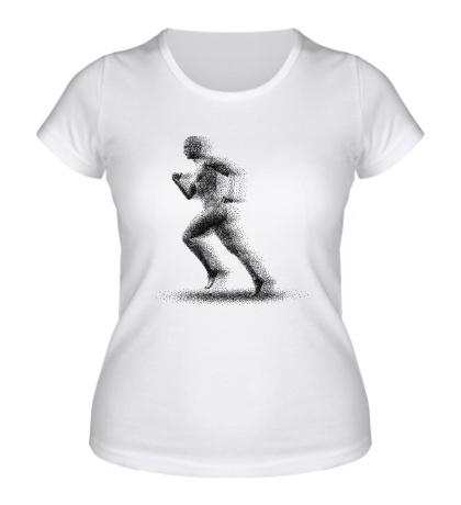 Женская футболка Faster Man