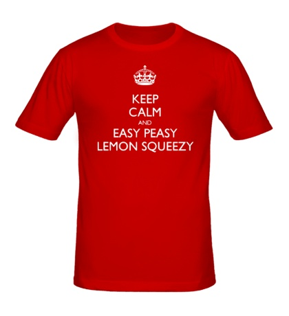 Мужская футболка Keep calm and lemon squeezy!