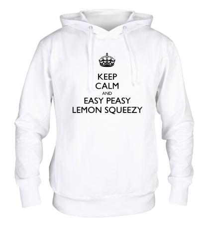 Толстовка с капюшоном Keep calm and lemon squeezy!