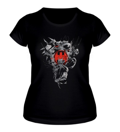 Женская футболка Red Bat Signal