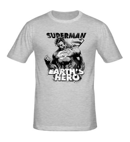 Мужская футболка Superman: Earths Hero