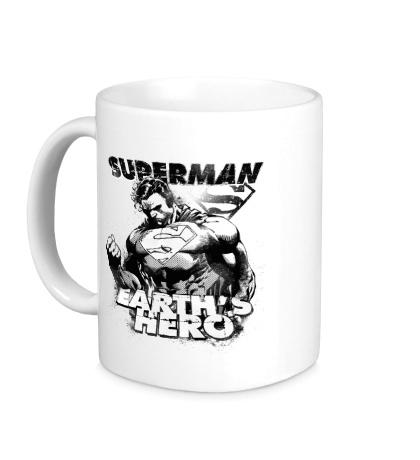Керамическая кружка Superman: Earths Hero