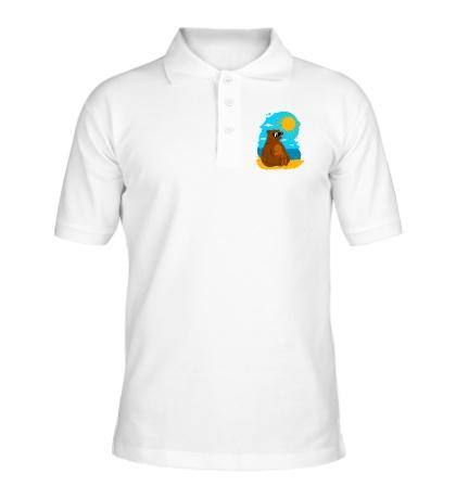 Рубашка поло Мишка на юге