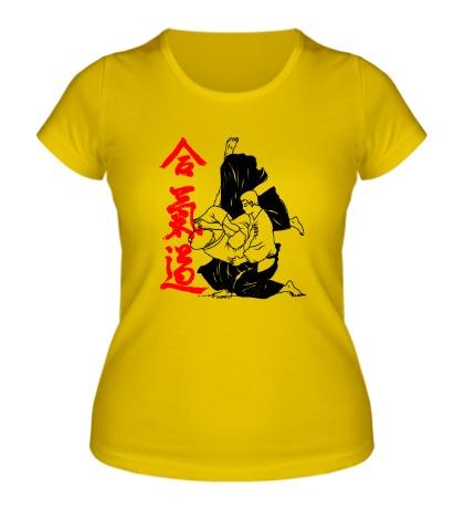 Женская футболка Айкидо
