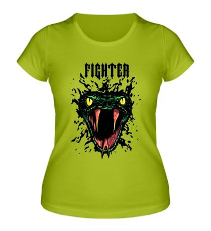 Женская футболка Snake Fighter