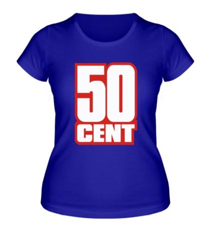 Женская футболка 50 cent