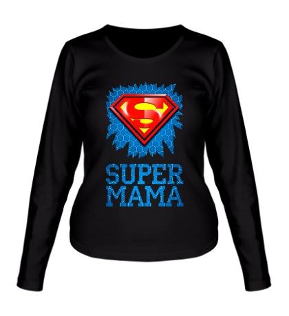 Женский лонгслив Superman Мама