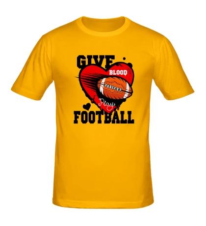 Мужская футболка Give blood Football