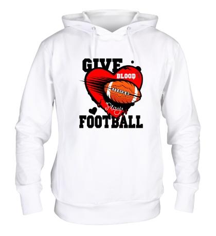 Толстовка с капюшоном Give blood Football