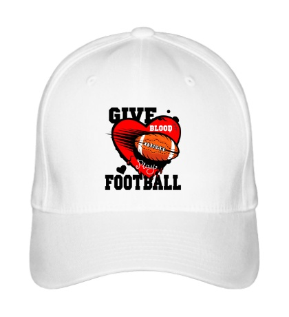 Бейсболка Give blood Football