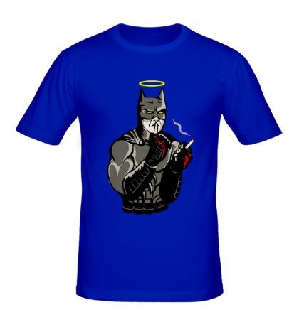 Мужская футболка Бэтмен курит