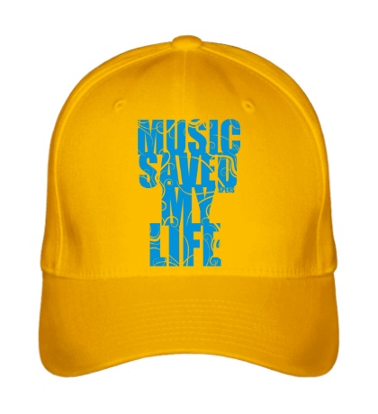 Бейсболка Music saved my life