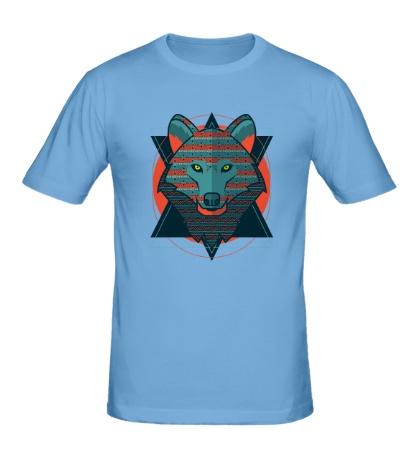 Мужская футболка Абстрактный волк