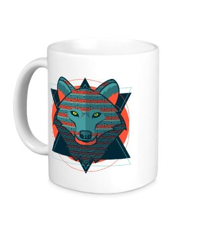 Керамическая кружка Абстрактный волк