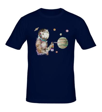 Мужская футболка Space graffiti