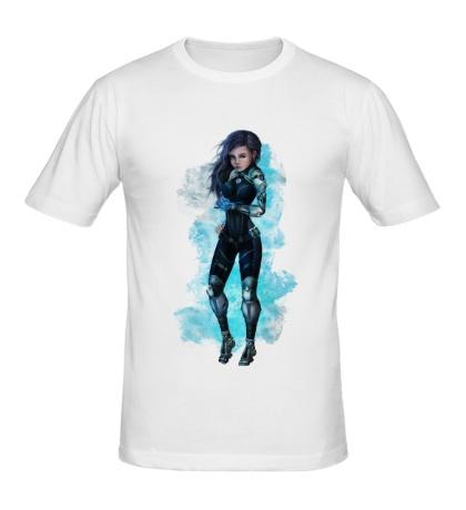 Мужская футболка Девушка робот