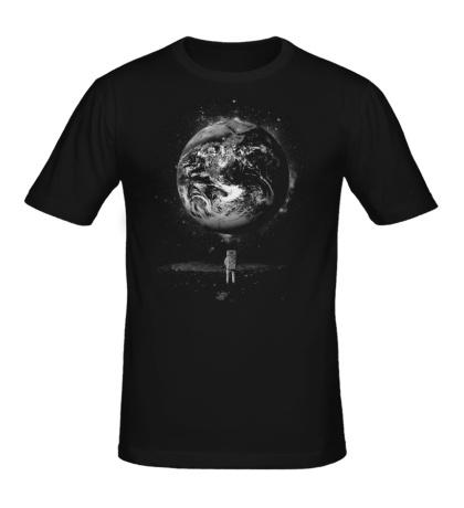 Мужская футболка Человек на Луне