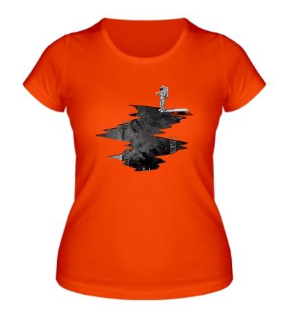 Женская футболка Космический Дайвинг