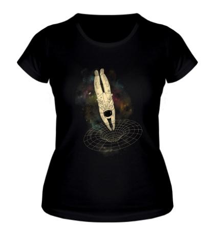 Женская футболка Погружение в космос