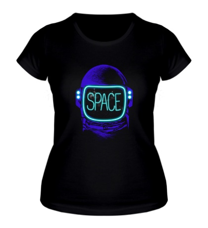 Женская футболка Неоновый космос