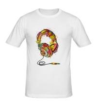 Мужская футболка Цветные наушники