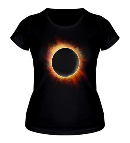 Женская футболка Солнечное затмение