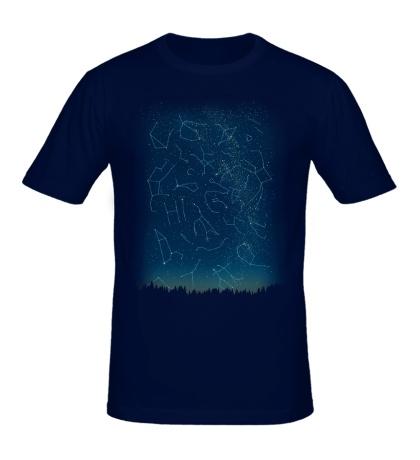 Мужская футболка Космическое небо