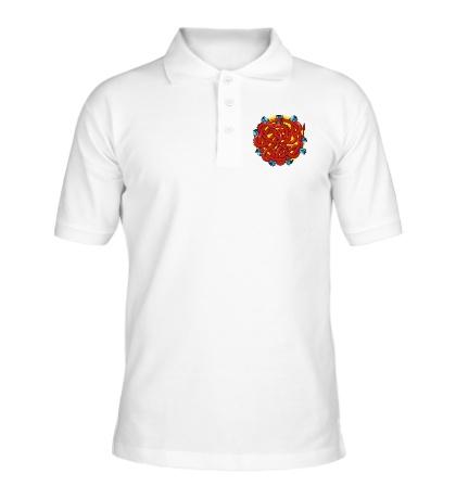 Рубашка поло Дракон в розах