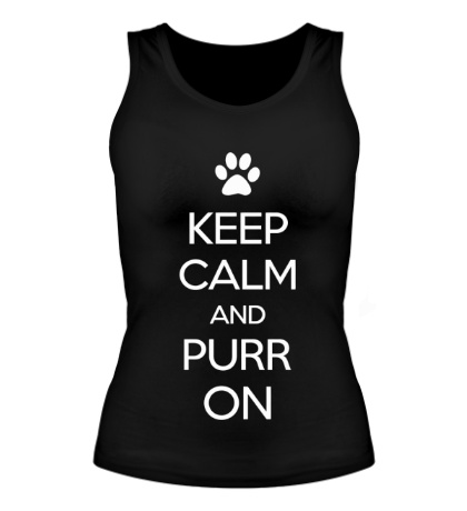Женская майка Keep calm and purr on