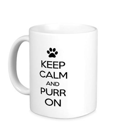 Керамическая кружка Keep calm and purr on