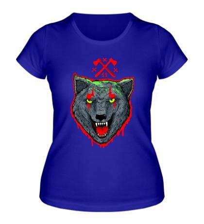 Женская футболка Волчья стая